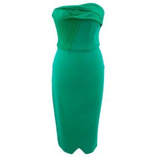 Roland Mouret green strapless dress
