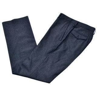 Bottega Veneta runway charcoal wool blend trousers