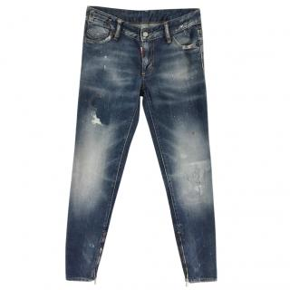 Dsquared2 faded denim jeans