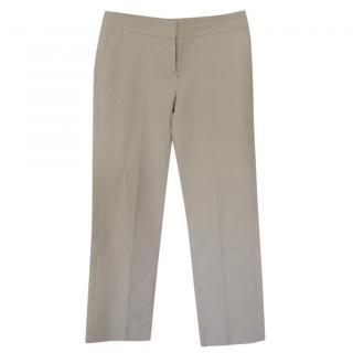 Chloe cropped beige cotton pants