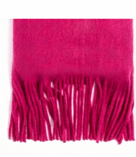 Johnstons Bright Cranberry 100% Lambswool Tasseled Scarf