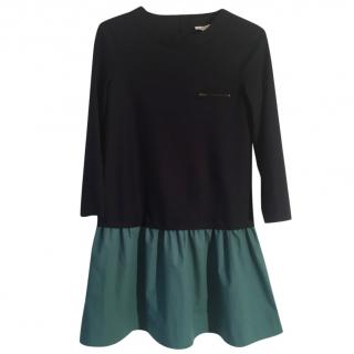 BONPOINT navy/green girl's dress