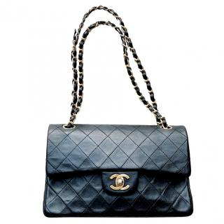 Chanel 2.55 black quilted shoulder bag