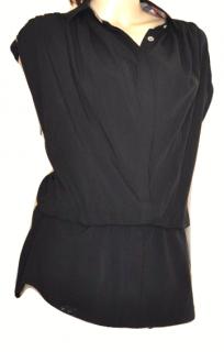 Burberry  black mix Silk blouse sz 40/ S