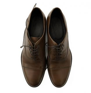Armani Collezioni brown leather brogues