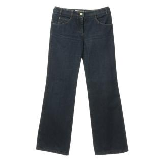 Chloe C patch flared jeans