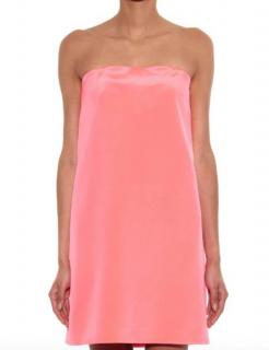 Raey strapless silk mini dress