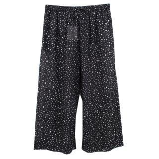 Diane Von Furstenberg Star Print Culotte Trousers