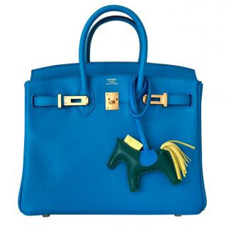 Hermes Birkin 25 - Baby Birkin in Blue Zanzibar and Gold Hardware