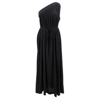 Helmut Lang silk off shoulder long dress