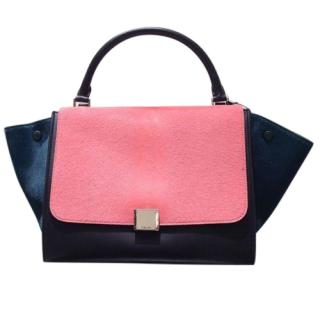 Celine Tri-colour Medium Trapeze Bag