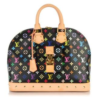 Louis Vuitton Murakami Black Noir Multicolor Monogram ALMA GM
