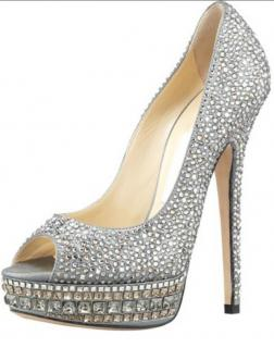Jimmy Choo Kendall shoes 38.5 fully crystalled