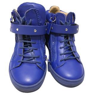 Guisseppe Zanotti kids blue hightops