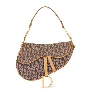 Dior Brown Monogram Canvas Saddle Bag