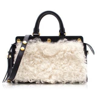 Mulberry chester shearling tote bag