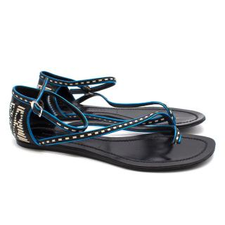 Sigerson Morrison Strappy Leather Sandals