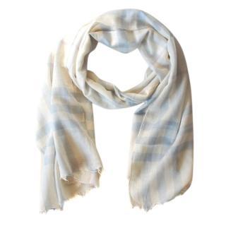 Burberry wool/silk blend check shawl