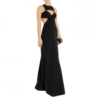 Michael Kors black wool cut-out gown