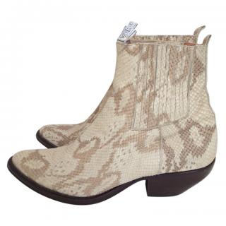 Versace Versus snakeskin cowboy boots
