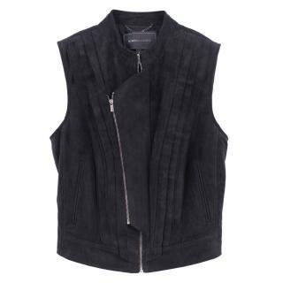 BCBGMaxAzria faux suede vest jacket