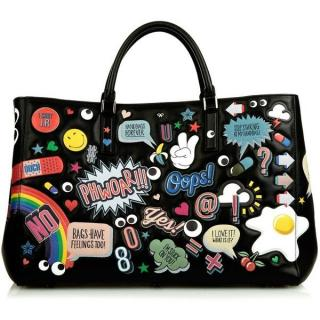 Anya Hindmarch All Over Stickers Maxi Featherweight Ebury Tote