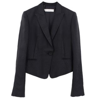 Stella McCartney silk blend textured blazer jacket