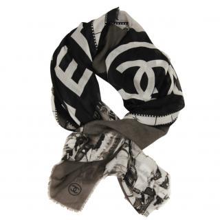 Chanel Cashmere Monochrome Stole