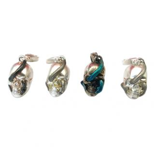Theo Fennell Four Skulls snake charms