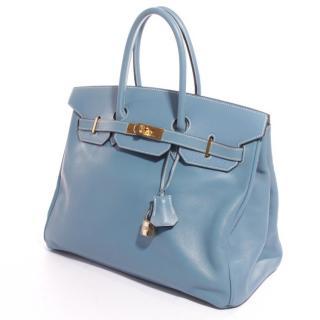 Hermes Blue 30cm Birkin Bag