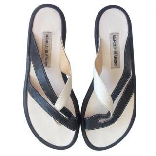 Manolo Blahnik monochrome sandals