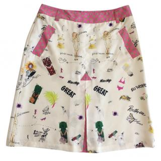 Etro Printed A-line Skirt