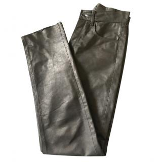 Apc Skinny Leather Trousers