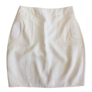 Marni fitted cream mini skirt