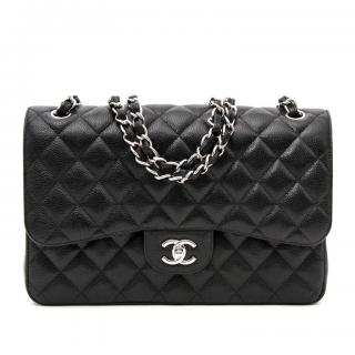 Chanel Caviar Leather Jumbo Flap Bag