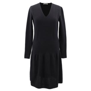 Jil Sander cashmere knit dress