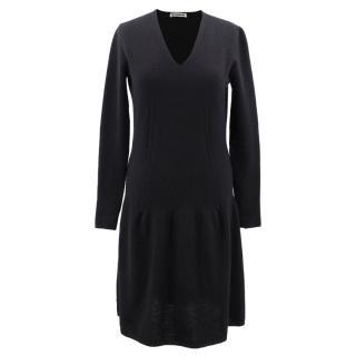 Jil Sander cashmere knit dress