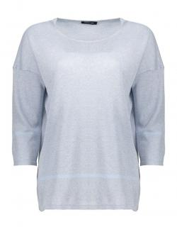 Anne Claire Ice Blue Cotton Pullover