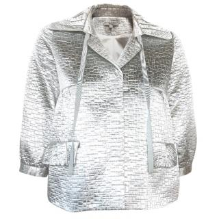 Essentiel Antwerp silver cropped jacket
