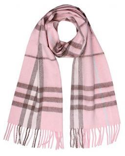 Burberry 100% cashmere baby pink Nova Check scarf