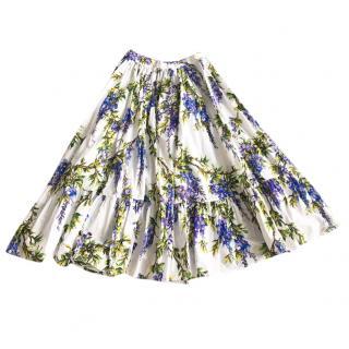Dolce & Gabbana Wisteria Print  Girl's Skirt