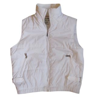 Prada White Hooded Gilet