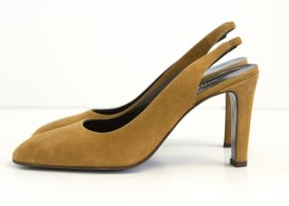Stephane Kelian suede slingback pumps