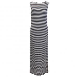 Betty Jackson striped jersey maxi dress