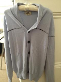 Hermes mens cashmere cardigan - new