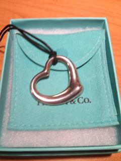 Tiffany & Co. large silver heart necklace