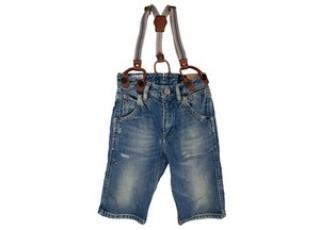 Scotch Shrunk Denim Shorts with Braces