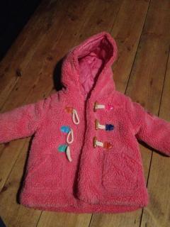 Cake Walk Pink Duffle Coat 9-12 months