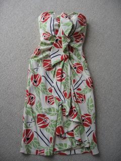 TEMPERLEY silk waterfall flower print dress