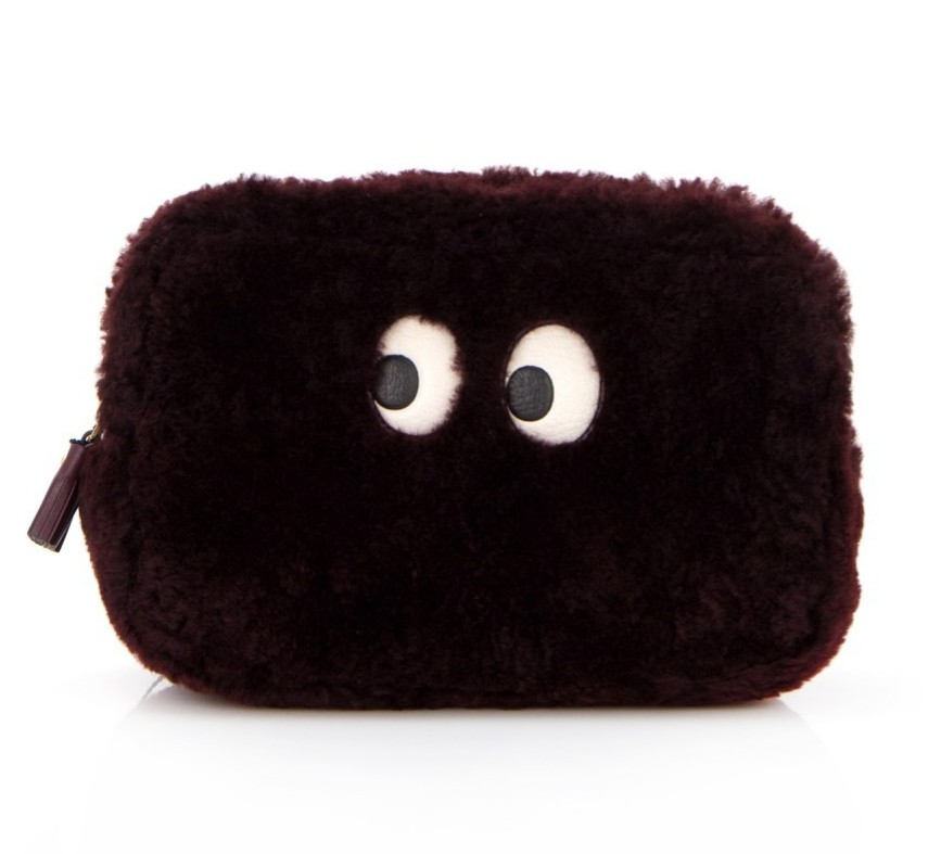 Anya Hindmarch Ghost shearling cosmetic bag